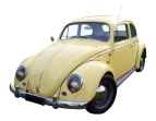 1968 Volkswagen 1300 isolated with clipping path