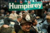 vintage-shot-democratic-convention-hubert-humphrey-supporter-wears-hat-featuring-mule-hubert-humphrey-campaign-35033062